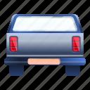 auto, automobile, truck, back, car, pickup