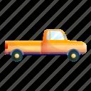 business, car, old, orange, pickup, retro