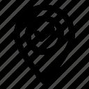 gps, locate, located, location, position icon