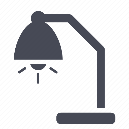 bulb, desk, light, night, office, table, working icon