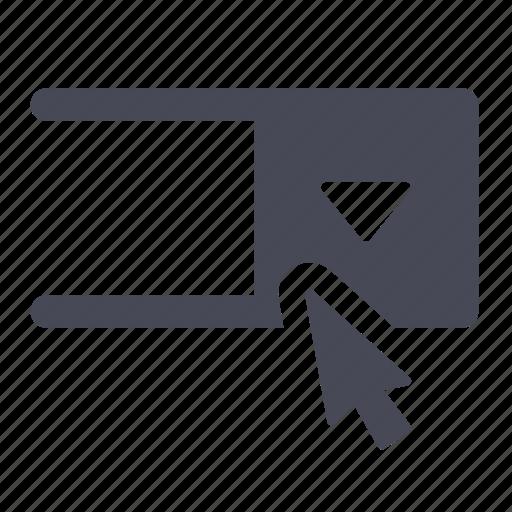drop, dropdown, menu, navigation, select, selection icon