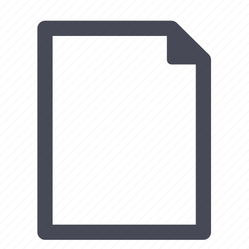 blank, clean, document, empty, file, new, paper icon
