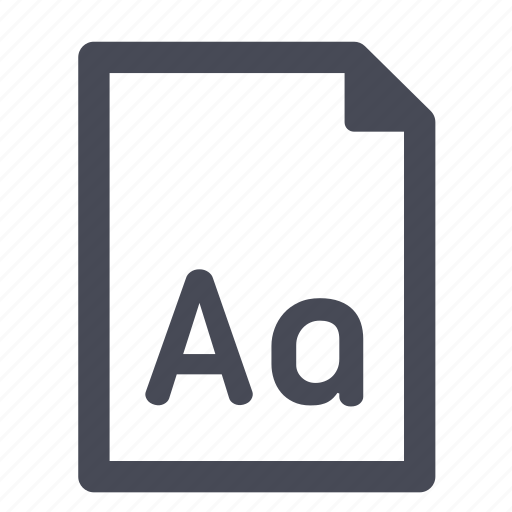 file, font, otf, paper, ttf, type, typography icon