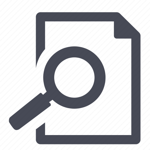 document, file, find, paper, search, spotlight icon