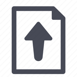 arrow, document, export, file, import, up, upload icon