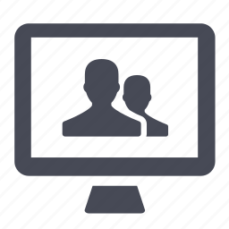 computer, group, people, permissions, profiles, users icon