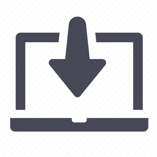 computer, download, downloads, laptop, notebook icon