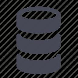data, database, datawarehouse, db, disk, raid icon