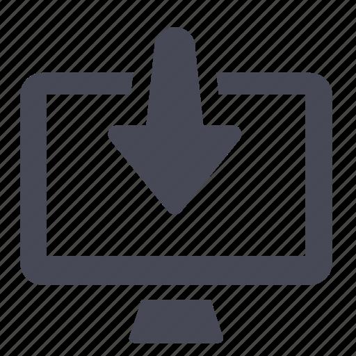 arrow, computer, down, download, files, guardar, save icon