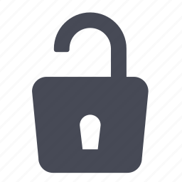 key, lock, password, protection, security, unlock, unlocked icon