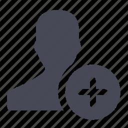 account, add, create, female, new, plus, user icon