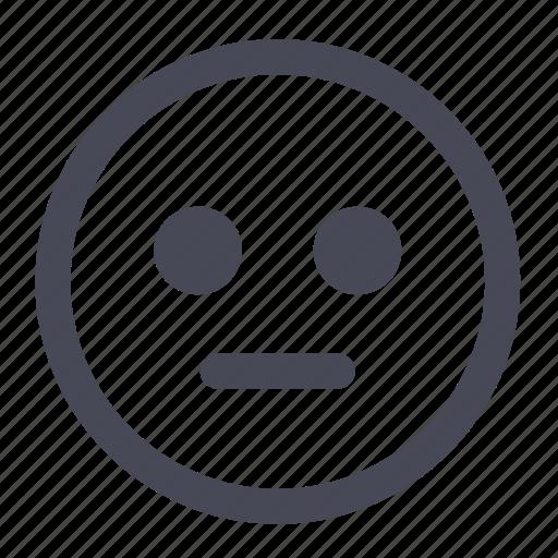 emoticon, face, happy, neutral, smile, smiley, user icon
