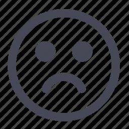 emoticon, sad, smile, smiley icon