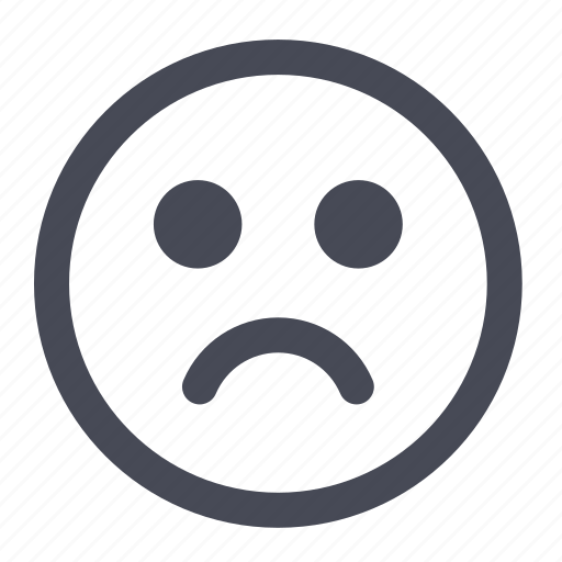 Emoticon, sad, smile, smiley icon | Icon search engine