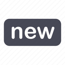brand, new, tag icon