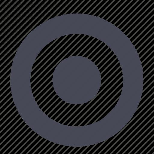 bullseye, center, shooting, target icon