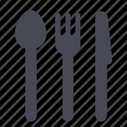 eat, eating, food, fork, kitchen, knife, restaurant icon