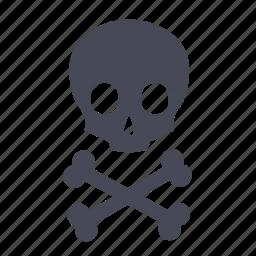 danger, dead, death, kill, killing, poison, skull icon