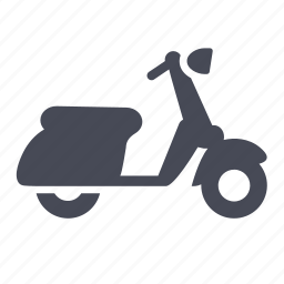italy, motorcycle, riding, scooter, vespa icon