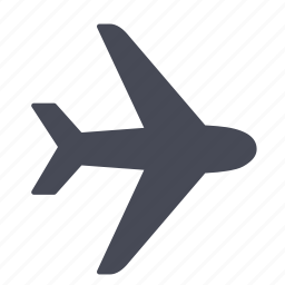 air, airplane, airport, flight, plane, transportation, travel icon