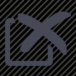 check, checkbox, cross, delete, no, remove, tick icon