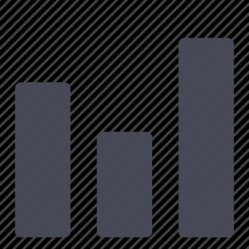 bar, bars, chart, graph, statistics icon