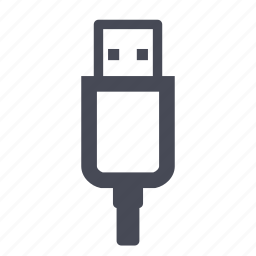charge, connection, connector, port, usb icon