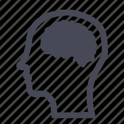 brain, genius, head, mind, physician, think, thinking icon