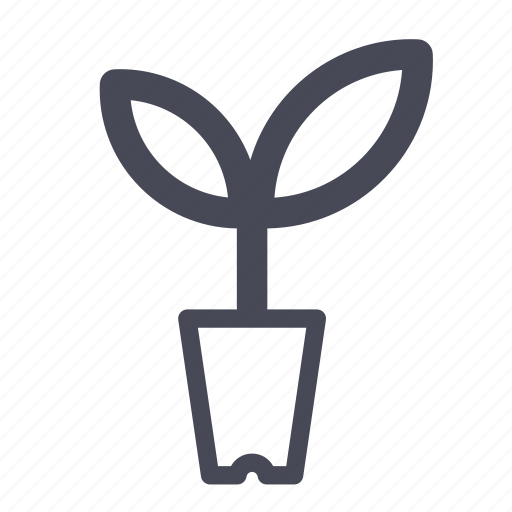 flower, flowers, leaf, nature, organic, plant, pot icon