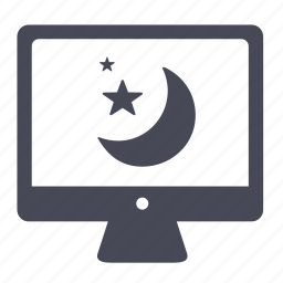 desktop, display, monitor, screen, screensaver, sleep icon
