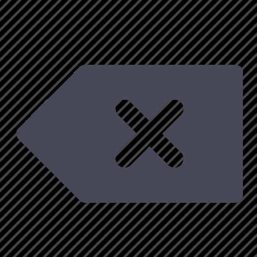 arrow, back, delete, remove icon