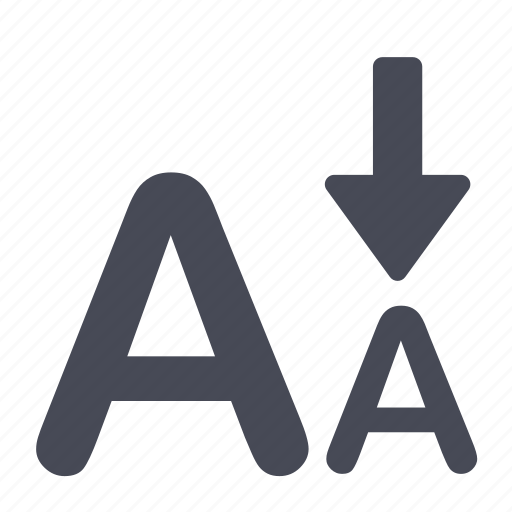 font, letter, size, smaller, type icon