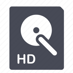 disk, drive, hard, network icon