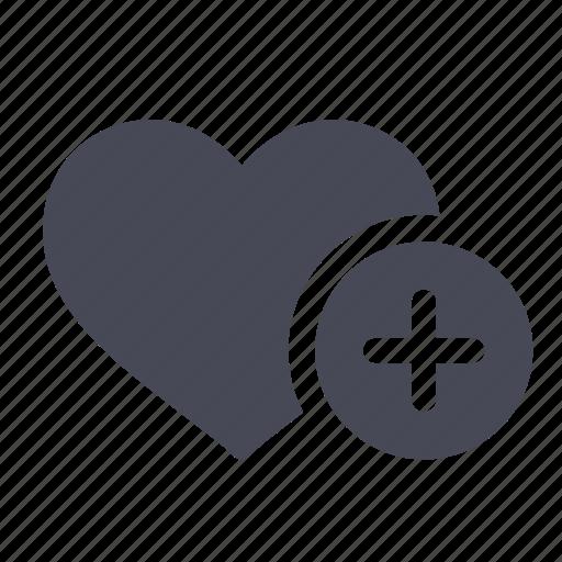 add, favorite, heart, like, love, plus icon