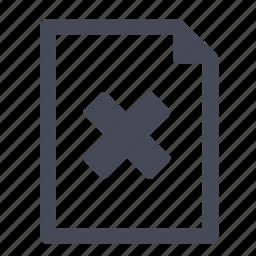 document, error, file icon