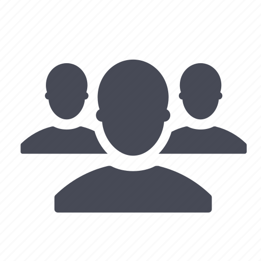 contacts forum friends group people public users icon