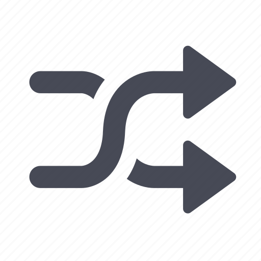 arrows, cross, shuffle icon
