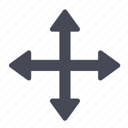 arrow, down, left, move, up icon