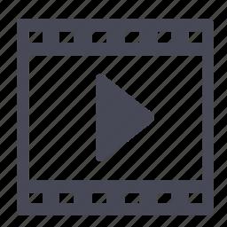 film, movie, movies, play, video icon