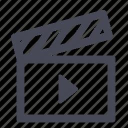 audio, clapper, film, movie, play, scene, video icon