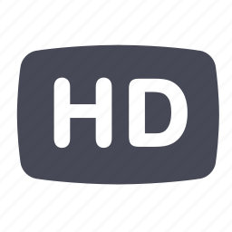hd, movie, video icon