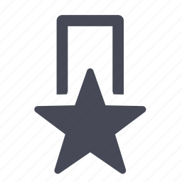 achievement, award, bookmark, favorite, medal, star icon