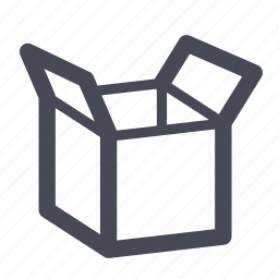 box, inventory, package, product, shipment, unbox icon