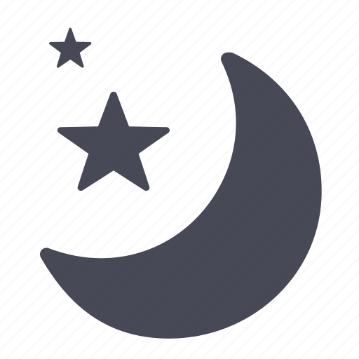 lunar, moon, night, stars, weather icon