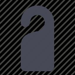disturb, door, hotel, privacy, sign, tag icon
