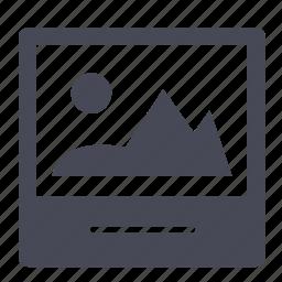 image, photo, picture, polaroid icon