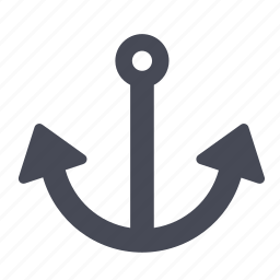 anchor, navy, sea, ship icon