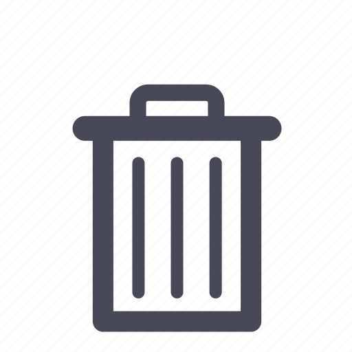 bin, delete, empty, full, recycle, remove, trash icon