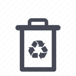 bin, delete, garbage, recycle, recycle bin, trash icon
