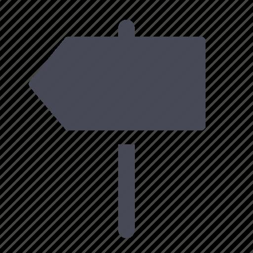 arrow, post, sign icon